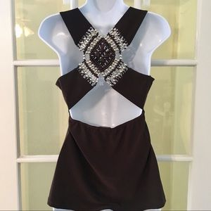BUNDLE ONLY brown sequined crotchets back
